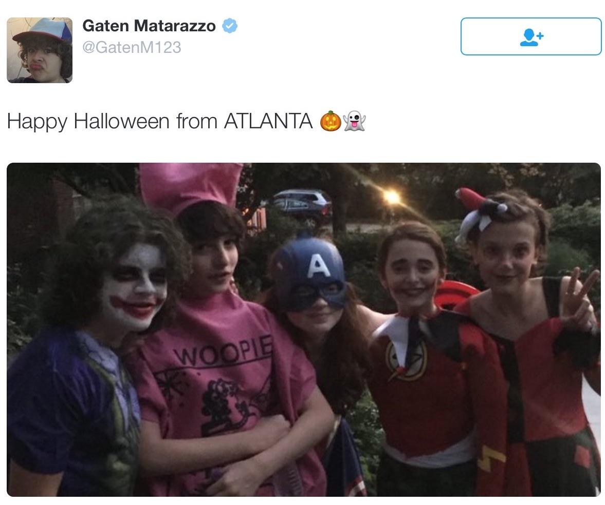 Le tweet de Gaten Matarazzo