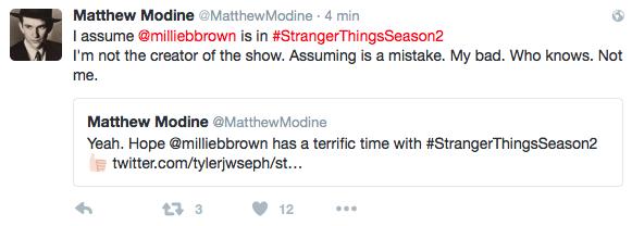 Les Tweets de Matthew Modine